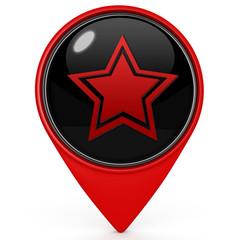 Star  pointer icon on white background