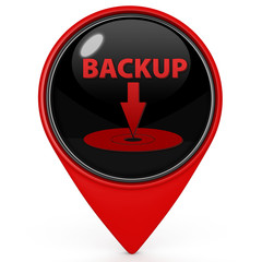 Backup pointer icon on white background