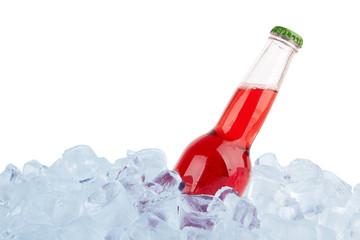 bottle in ice