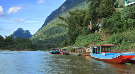 on the banks of the Mekong