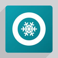 flat snowflake icon.