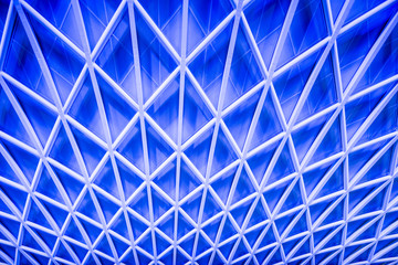 Abstract Blue Architecture Ceiling