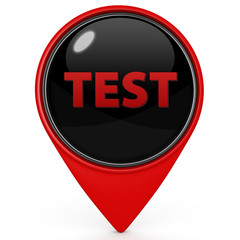 Test  pointer icon on white background