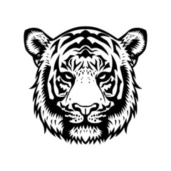 Tiger Head BW