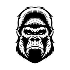 Gorilla Head BW