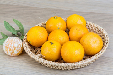 Tangerines in the bowl