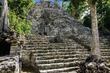 Mayan pyramid of Quitana Roo Yucatan