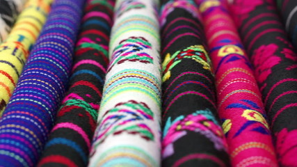 Dolly Across Traditional Mexican Fabrics