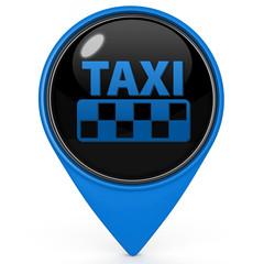 Taxi pointer icon on white background
