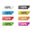 Colorful Sticker 10%