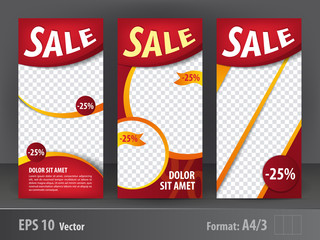 Set of flayers Sale, vector print template