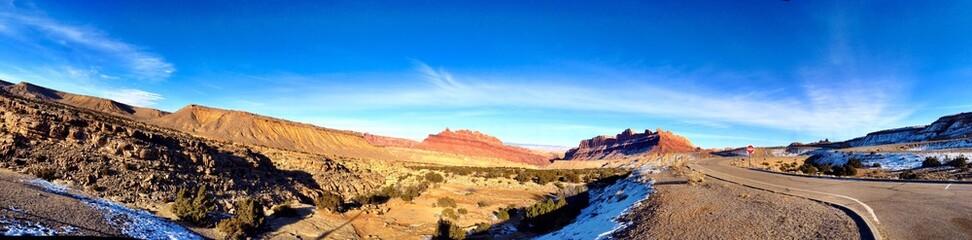Sunny day in the Utah Desert