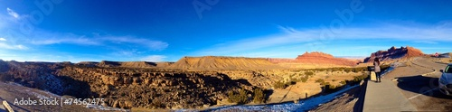 canvas print picture Sunny day in the Utah Desert