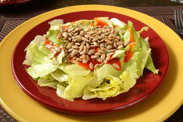 Salad with sunflower seeds