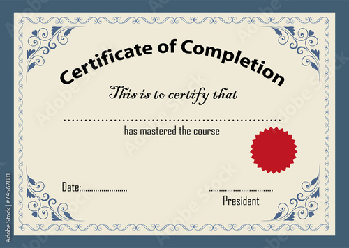 Certificate template  - 74562881