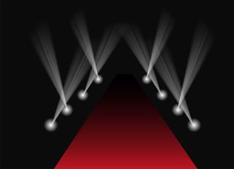 Red carpet spotlight background