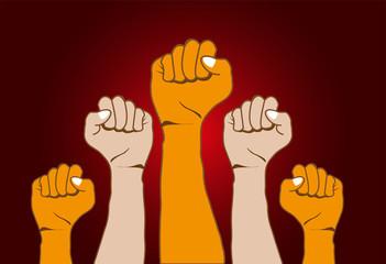 Revolution hands background