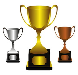 Trophies winner background