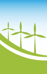 wind power background