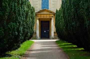 garden path to a stately home, UK