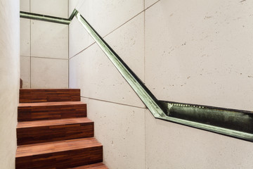 Staircase with industrial elements