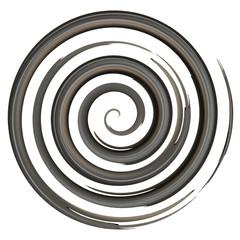 Black watercolor spiral, elements for design