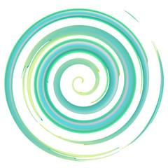 Blue watercolor spiral, elements for design