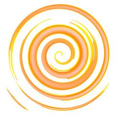 orange watercolor spiral, elements for design