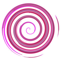 Lilac watercolor spiral, elements for design
