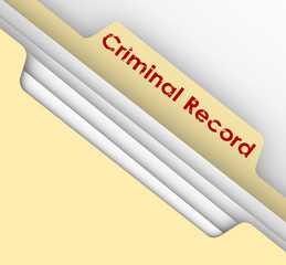 Criminal Record Manila Folder Crime Data Arrest File