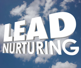 Lead Nurturing Cloud Sales Process 3d Words Prospects Customers