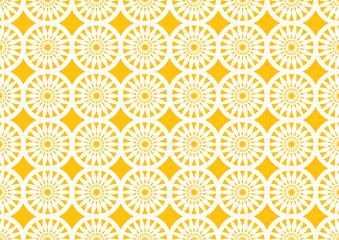 Abstract Circle Kaleidoscopic Pattern in Orange for Wallpaper