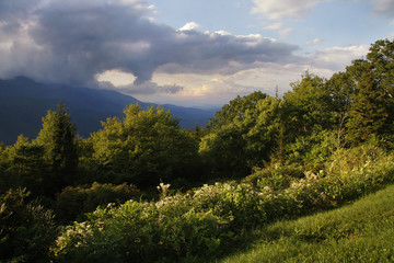 A Scenic view of the Blue Ridge Mountains.