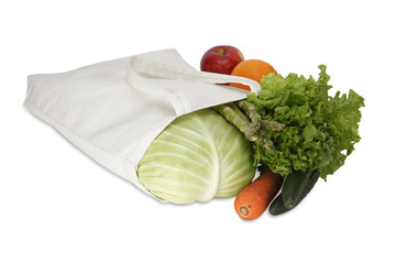 Cotton shopping bag/with clipping path