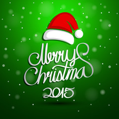 Christmas Greeting Card. Merry Christmas And Happy New Year lett