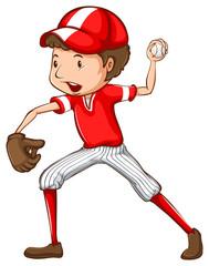 A young baseball player