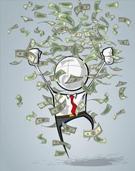 Simple Business People - Money Rain