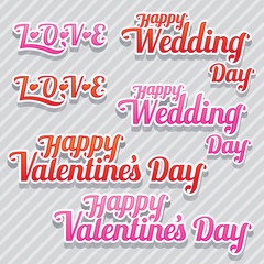 LOVE, Wedding and Valentine's Text