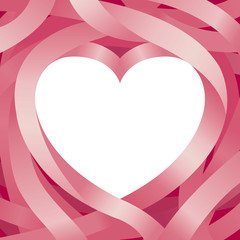 Heart Shape and Ribbon Background