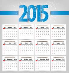 Calendar for 2015. Vector EPS10.