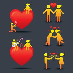 Human Symbol Love Story Concept