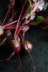 Beetroot on a baking sheet