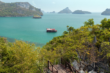 View of archipelago at the Angthong in Thailand
