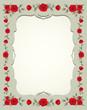 Obrazy na płótnie, fototapety, zdjęcia, fotoobrazy drukowane : Roses Vintage Square-Shaped Frame, Border