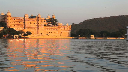 View of The City Palace in Udaipur