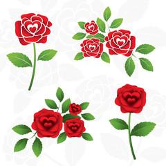 Roses Illustrate, Heart Shape inside