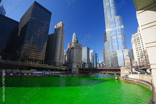 Foto op Plexiglas Chicago chicago green river