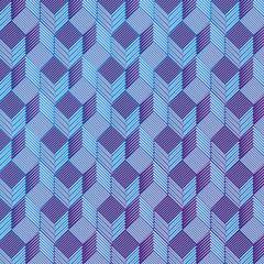 Blau Würfel auf einem Stoffmuster