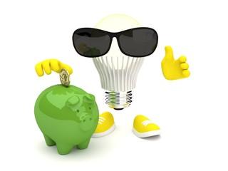 Led lamp bright light saving money