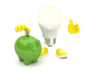 Led Lamp saving money
